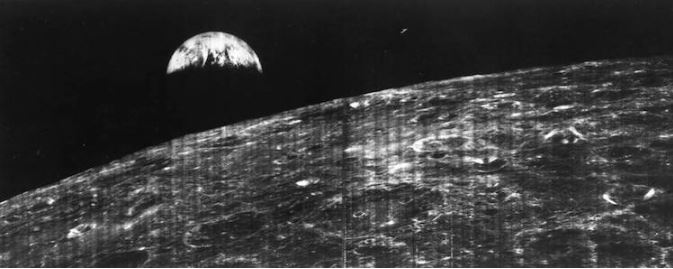 first photo of earth from moon