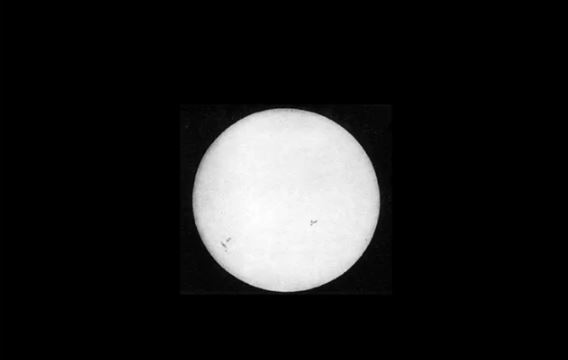 first photograph of sun