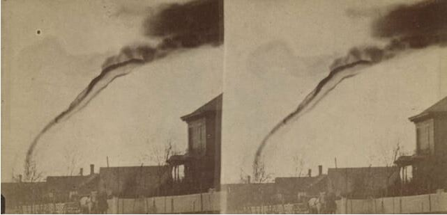first photograph of tornado