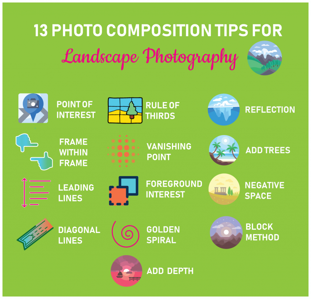 Photo composition tips for landscape photography