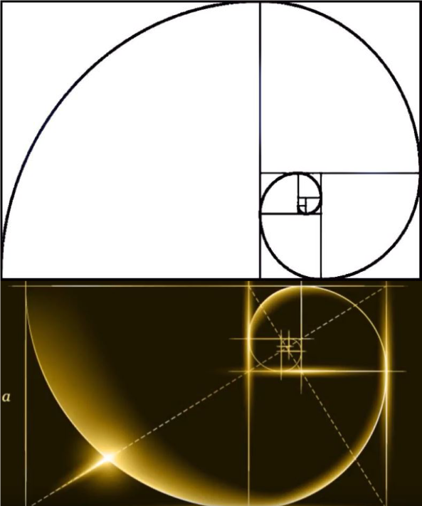Golden spiral rule